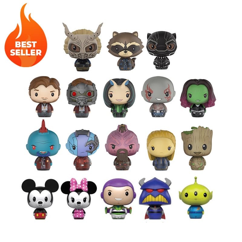 Set of 3 Collectible Pint Sized Vinyl Hero Figures