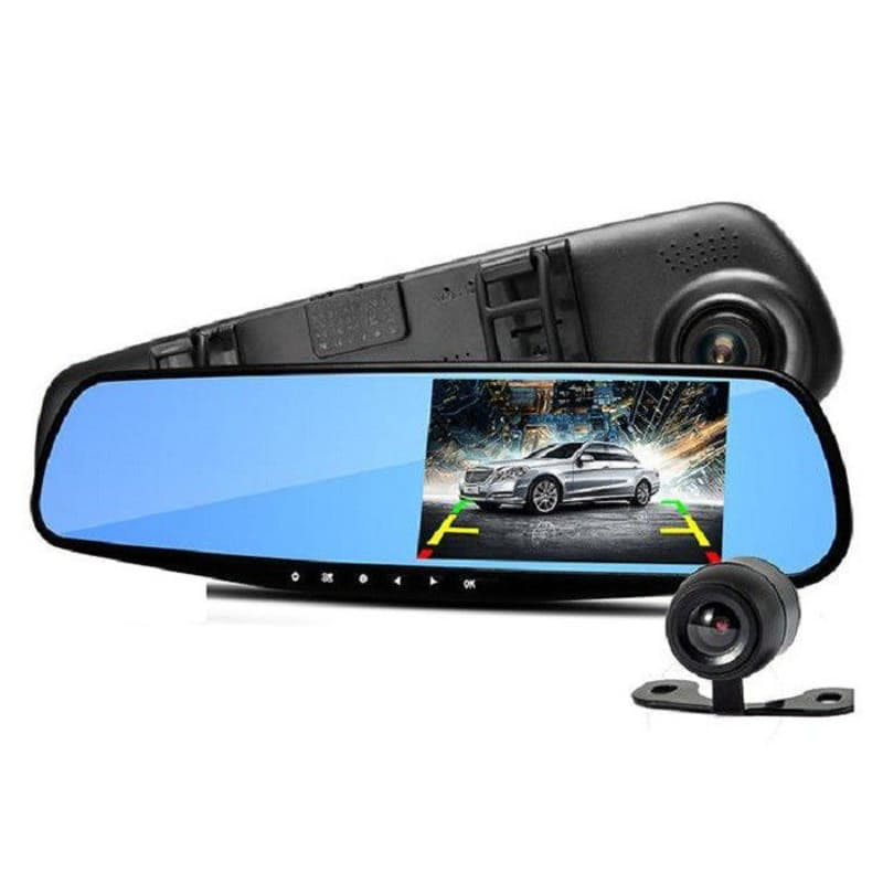 1080P HD Dual Rearview Cam with Full Touch Screen