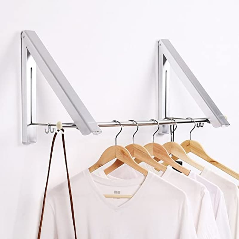 Wall Mounted Retractable Hanging Storage Rail