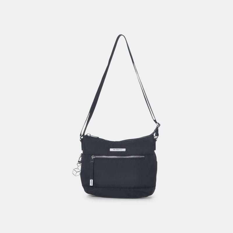 Aura Crossover Bag with Genuine Leather Trimmings