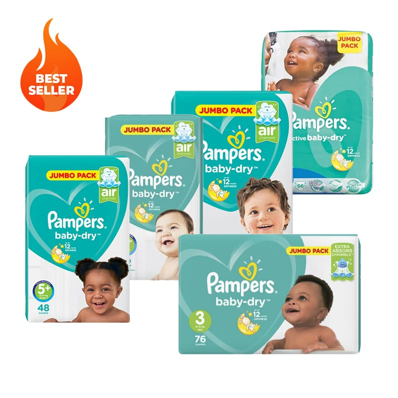 Pack of 2 Jumbo Pack Active Baby Nappies