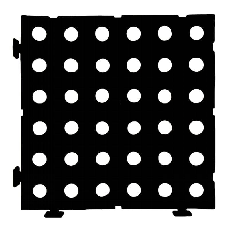 Pack of 16 Interlocking Duckboard PVC Tiles (1m² in Total)