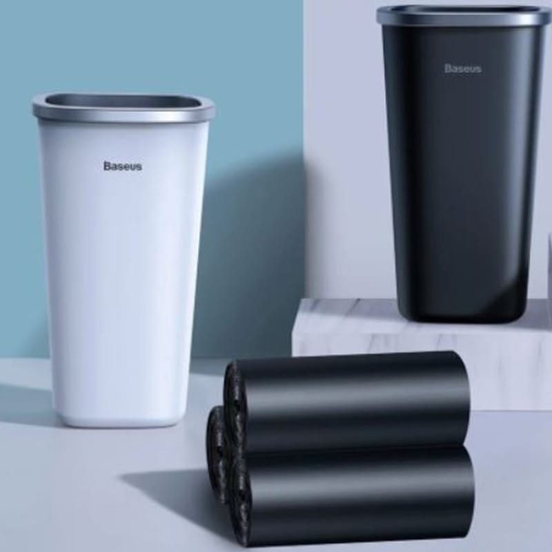 Dust-Free Series Car Trash Can Bin with Trash Bags