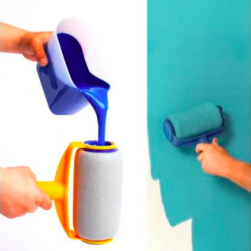 6 Piece Non-Drip Paint Roller Kit with Extendable Handle