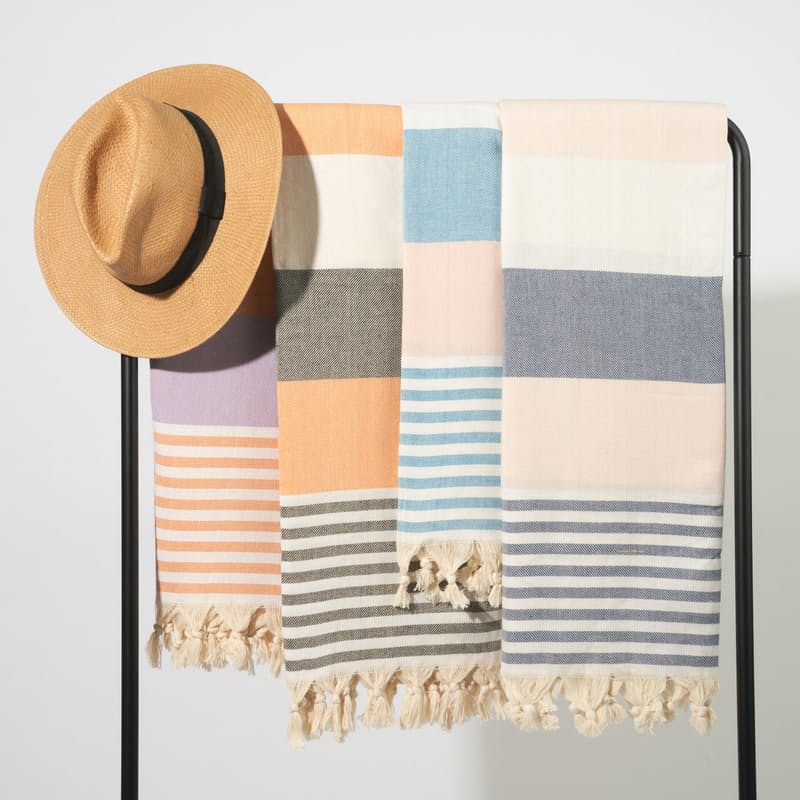 Luxurious Striped Turkish Towels
