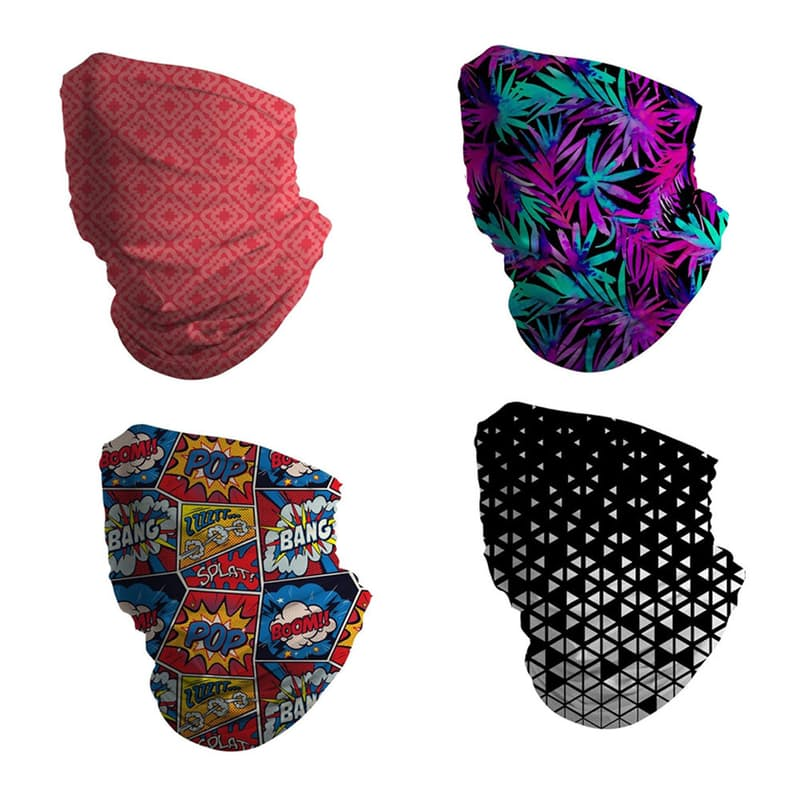 Pack of 4 Colourful Face Shields