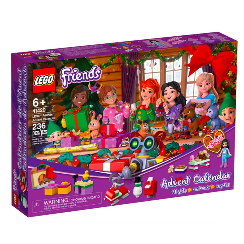 236-Piece Friends Christmas Advent Calendar