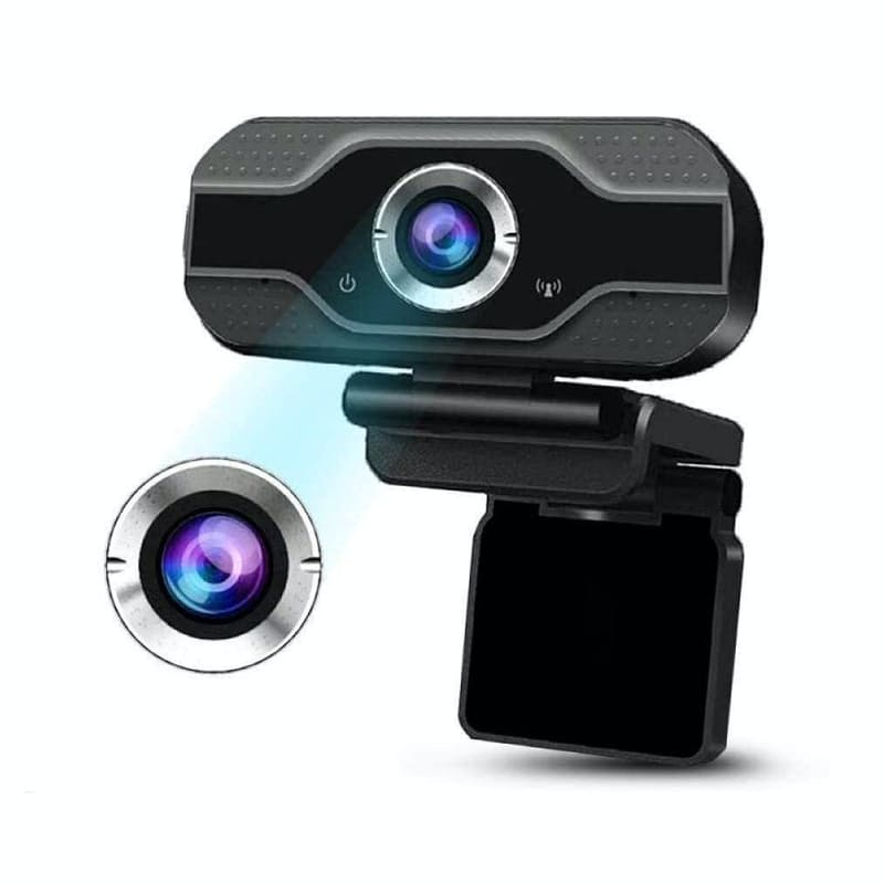CMOS Sensor Webcam with Built-In Mic for Computers or Laptops