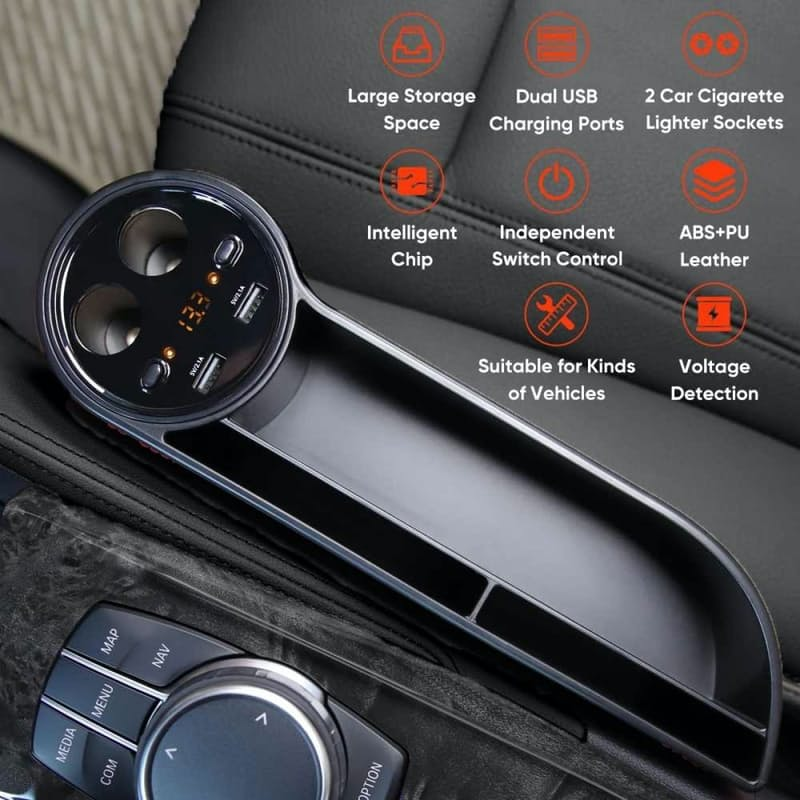 Multifunctional Universal Car Charger with Storage