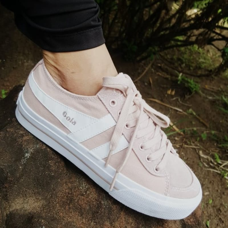 Ladies Dusty Pink Quota 11 Sneakers