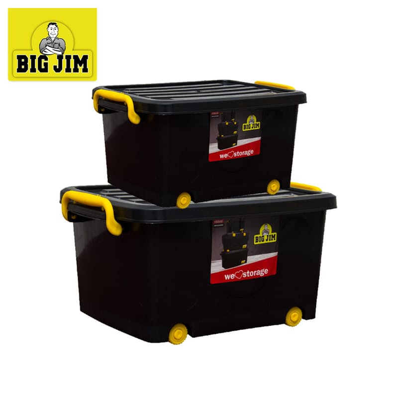 32L & 55L Roller Storage Container Set