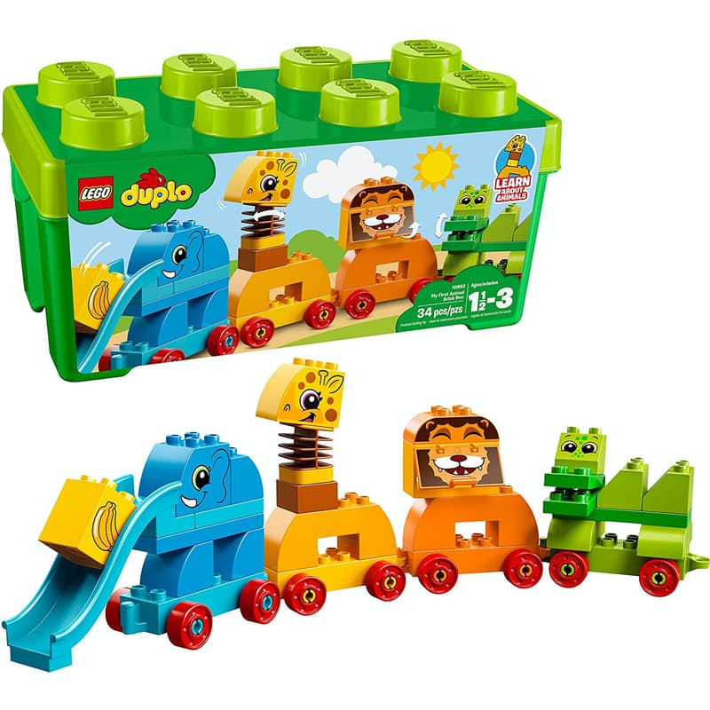 34-Piece Duplo My First Animal Brick Box