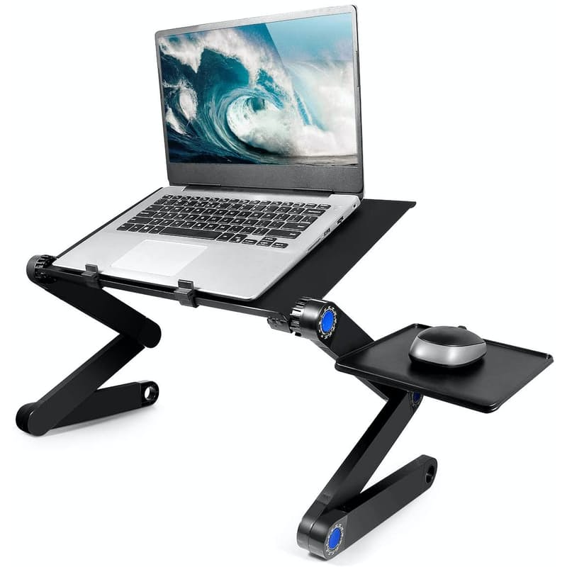 Portable Adjustable Cooling Laptop Stand with Mouse Pad