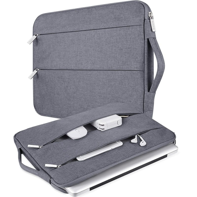 Laptop Case with Retractable Handle