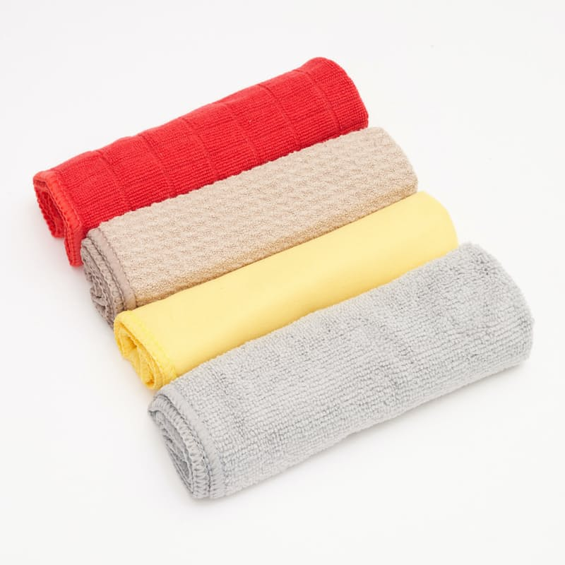 Pack of 4 Microfibre Cleaning Cloths