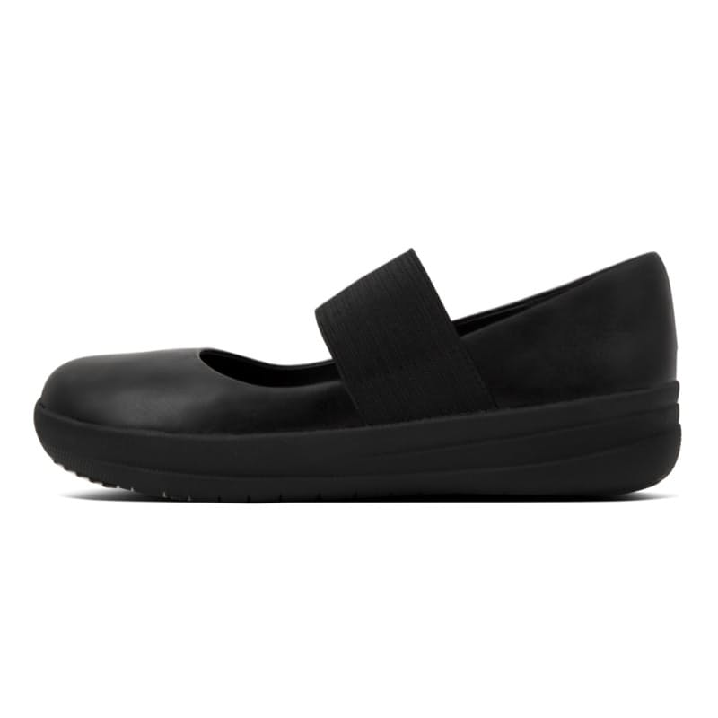 Ladies F-Sporty Mary Jane Leather Flats