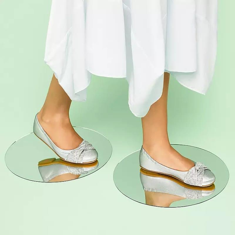 Ladies Twiss Crystal Ballet Flats