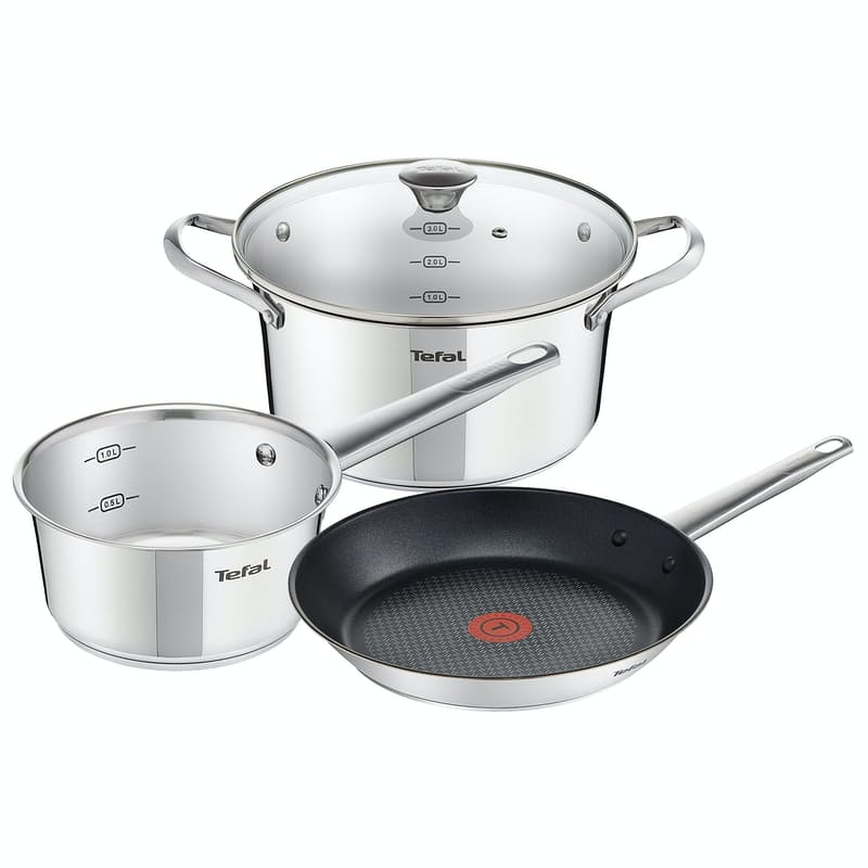 4-Piece Simpleo Stainless-Steel Cookware Set