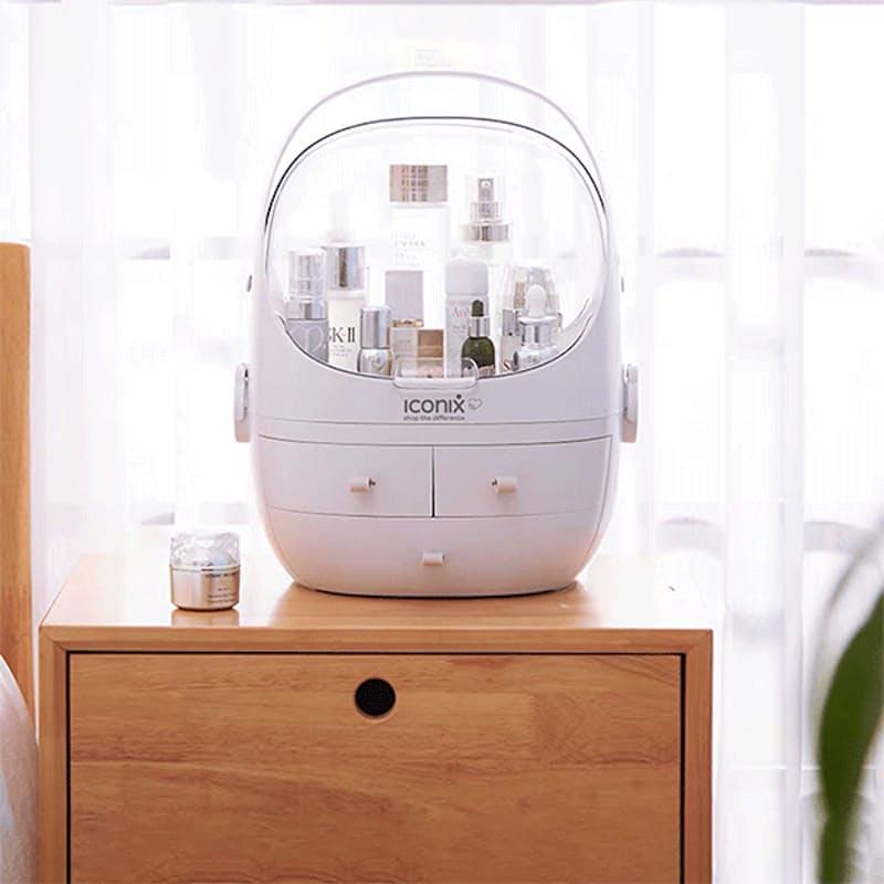 Oval Style Acrylic Cosmetics Organiser