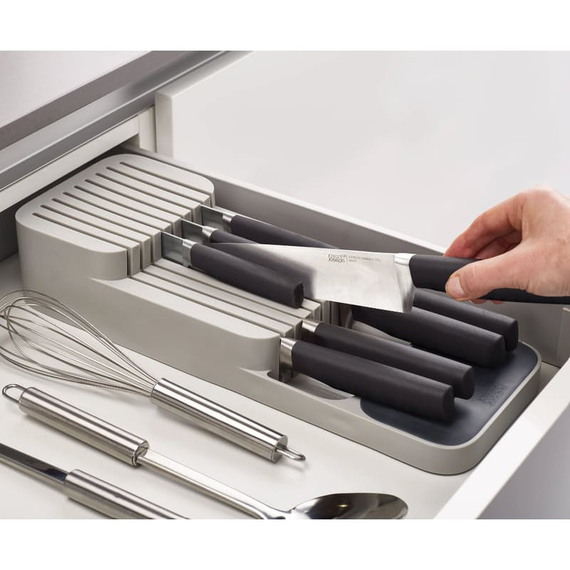 White Drawer Store Knife Organiser