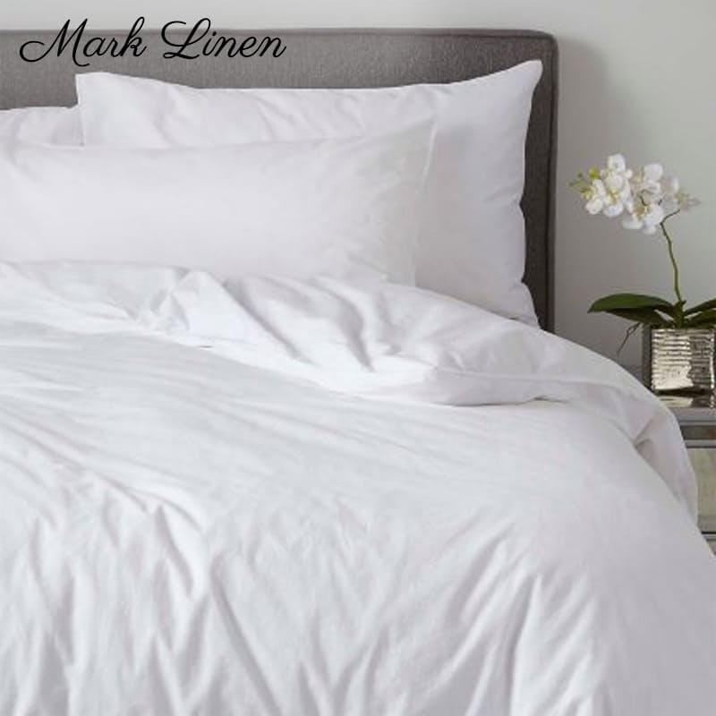 White Standard or Oxford 200TC 100% Cotton Percale Duvet Covers