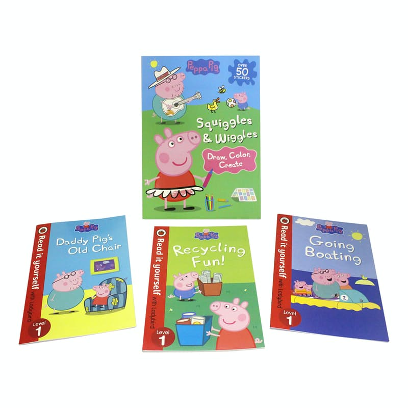 Children's Draw, Colour, Create and First Reading Bundle (4 Books)