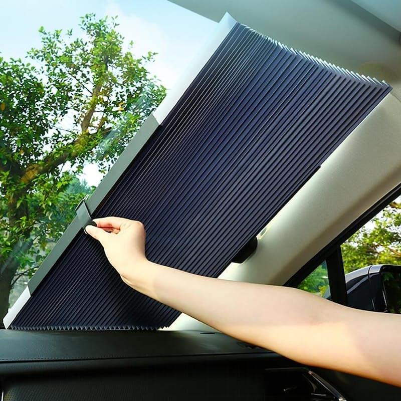 Retractable Vehicle Windshield Sun Shade