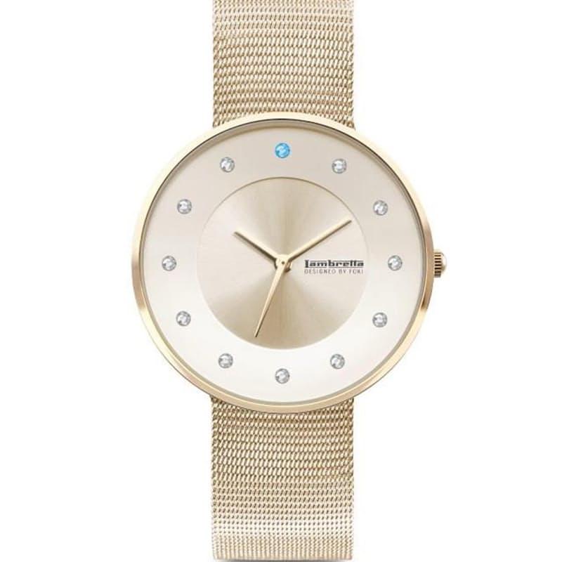 Ladies Florence Swarovski Mesh Bracelet Watch (Gold)