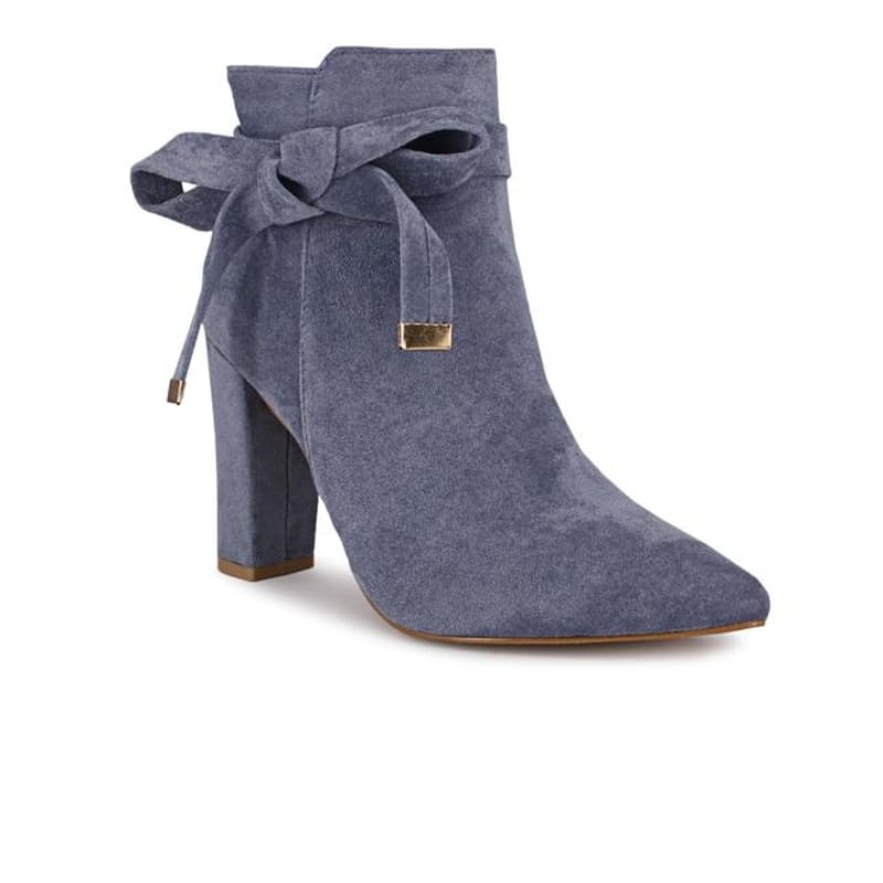 Ladies Ankle Boot with Bow Accent