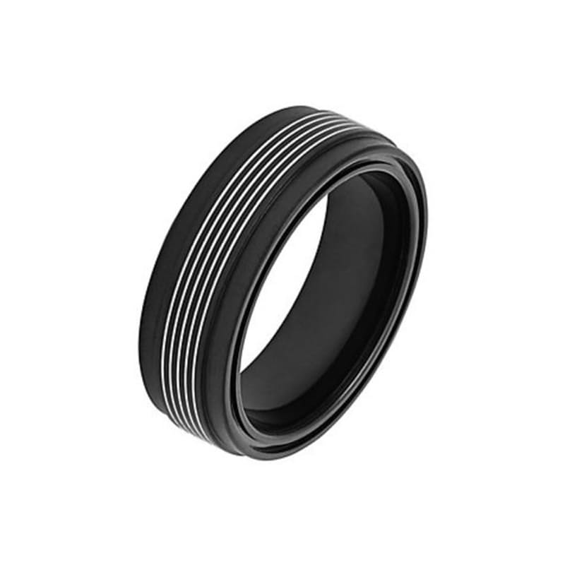 Men's Rasmus Steel Black Multi Ring (Only medium available)