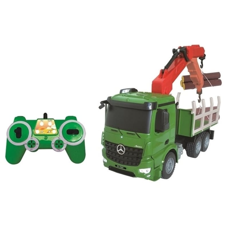 Remote Controlled Mercedes-Benz Arocs Timber Truck With Battery & USB Charger