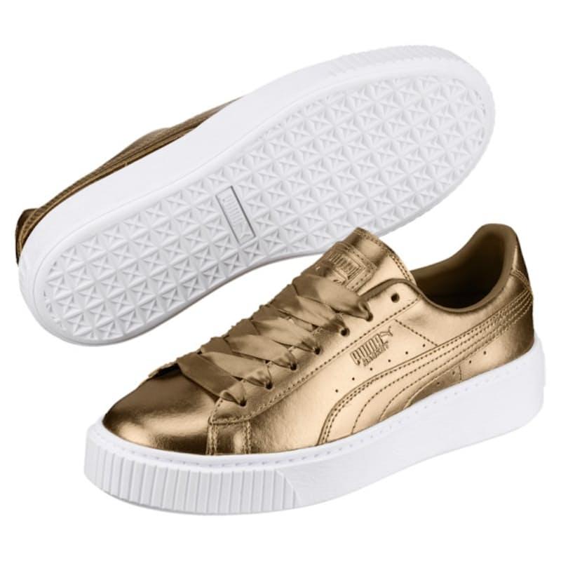 Ladies Basket Platform Luxe Sneakers