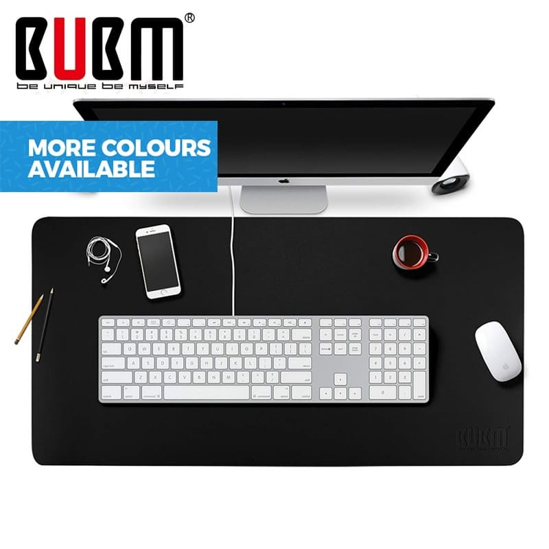 Anti-slip PU Leather Desk Pad Protector And Mouse Pad (40 x 80 cm)