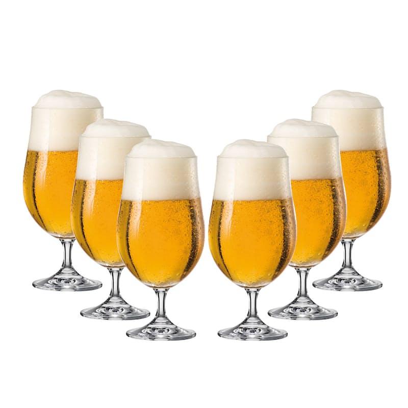 Set of 6 Tulip Beer Glasses