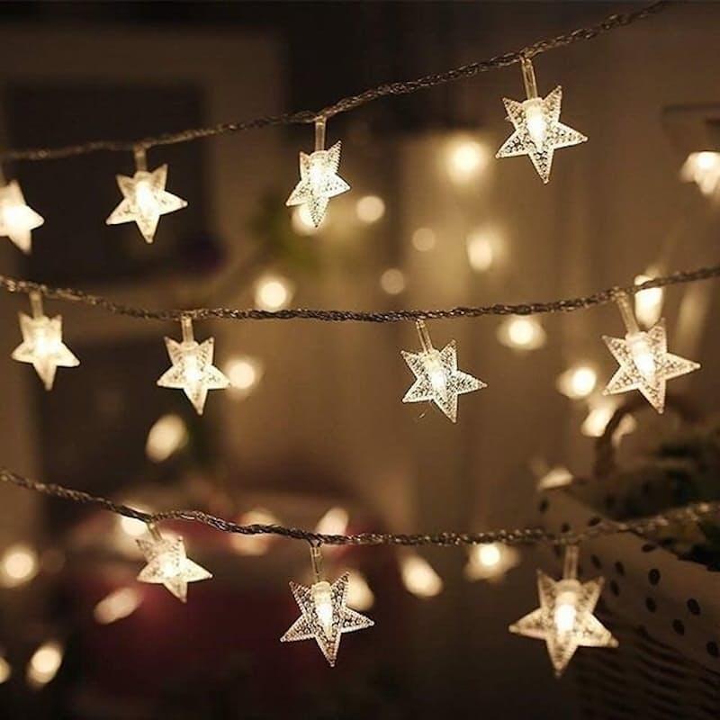 5m or 10m String of LED Star Lights
