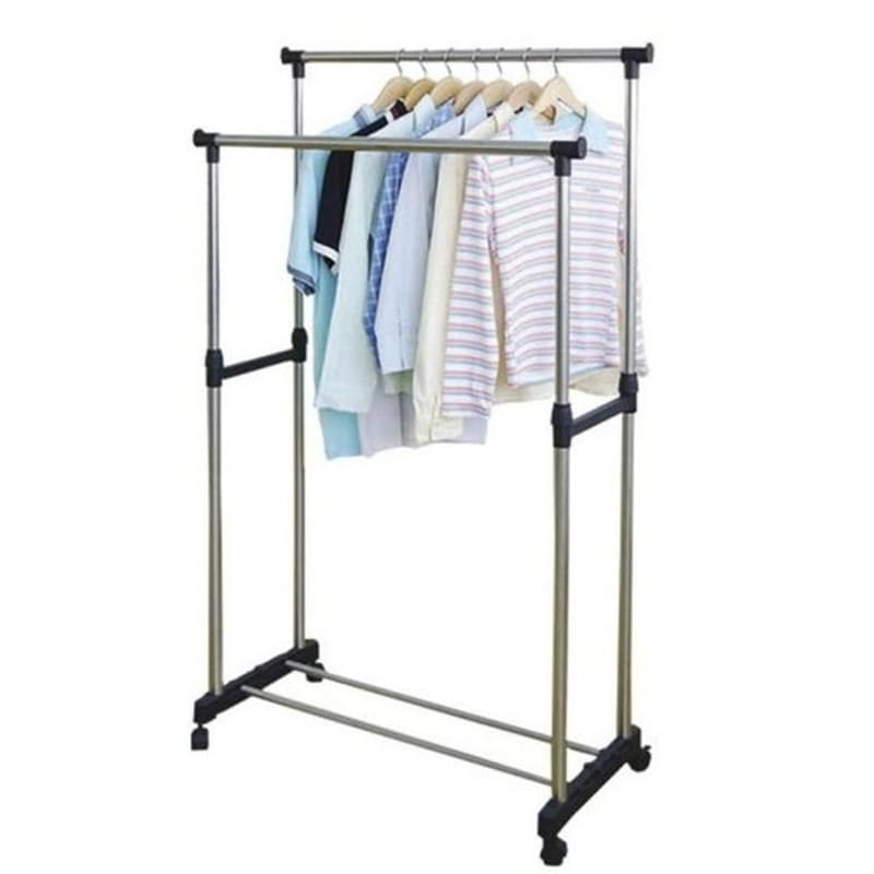 Double Pole Telescopic Clothing Rail