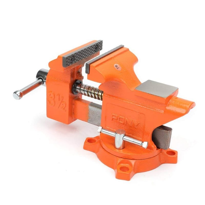3 Inch Bench Vise with Swivel Base