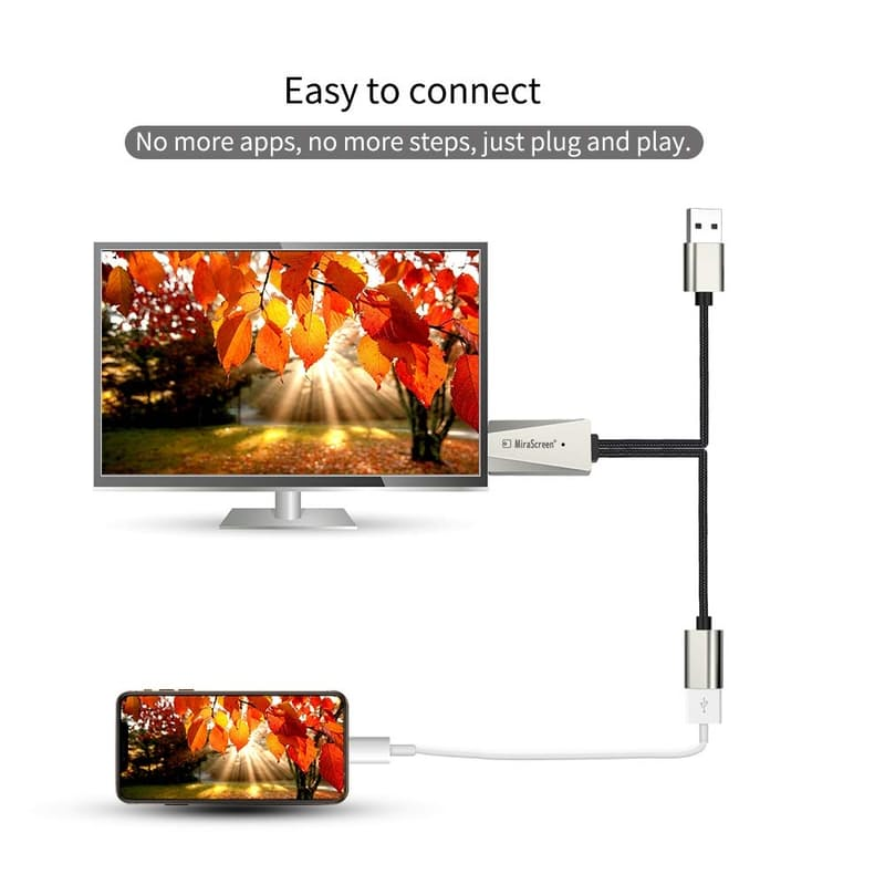 Nylon USB to HDMI Video Adapter Cable