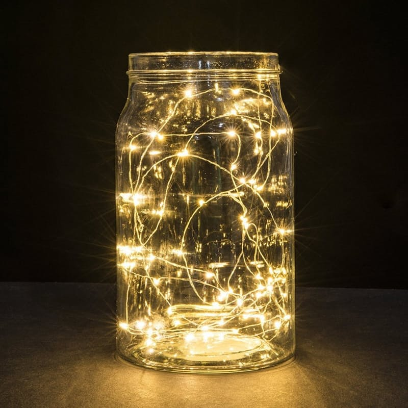 Pack of 3 Battery Operated 2m Copper Fairy Lights