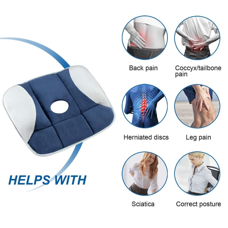 Pressure Relieving Portable Seat Cushion
