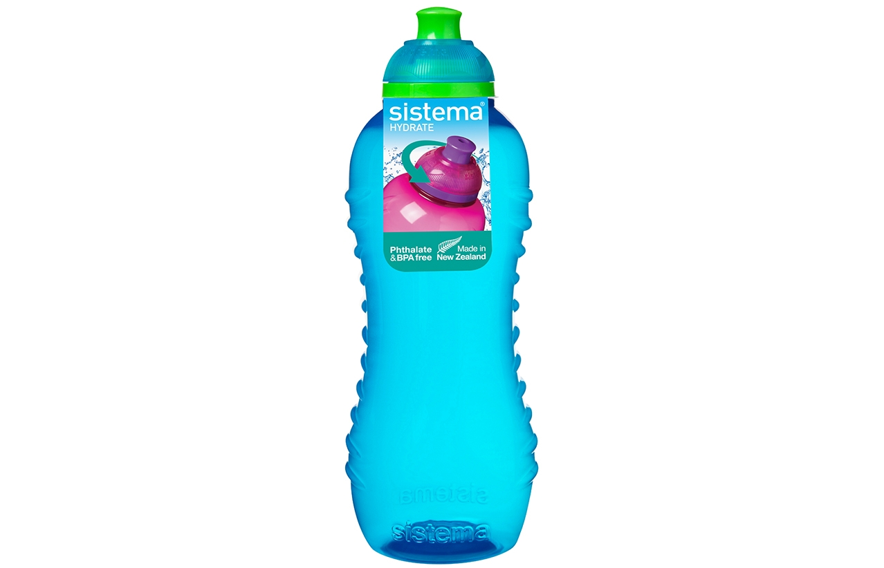 Pink Green Purple 4 Sistema 460ml Twister Drinks Bottles Blue