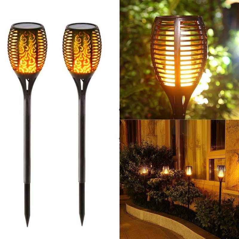 Set of 2, Solar Waterproof Outdoor Lanterns