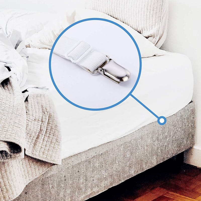 Pack of 4 Adjustable Bed Sheet Clips