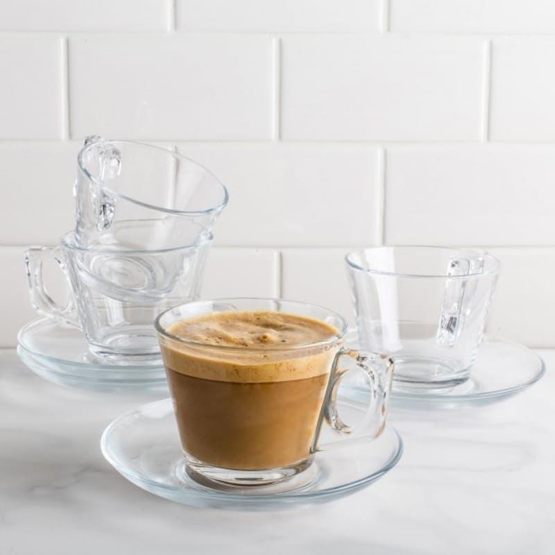 Set of 12 Aqua or Vela Cup & Saucers