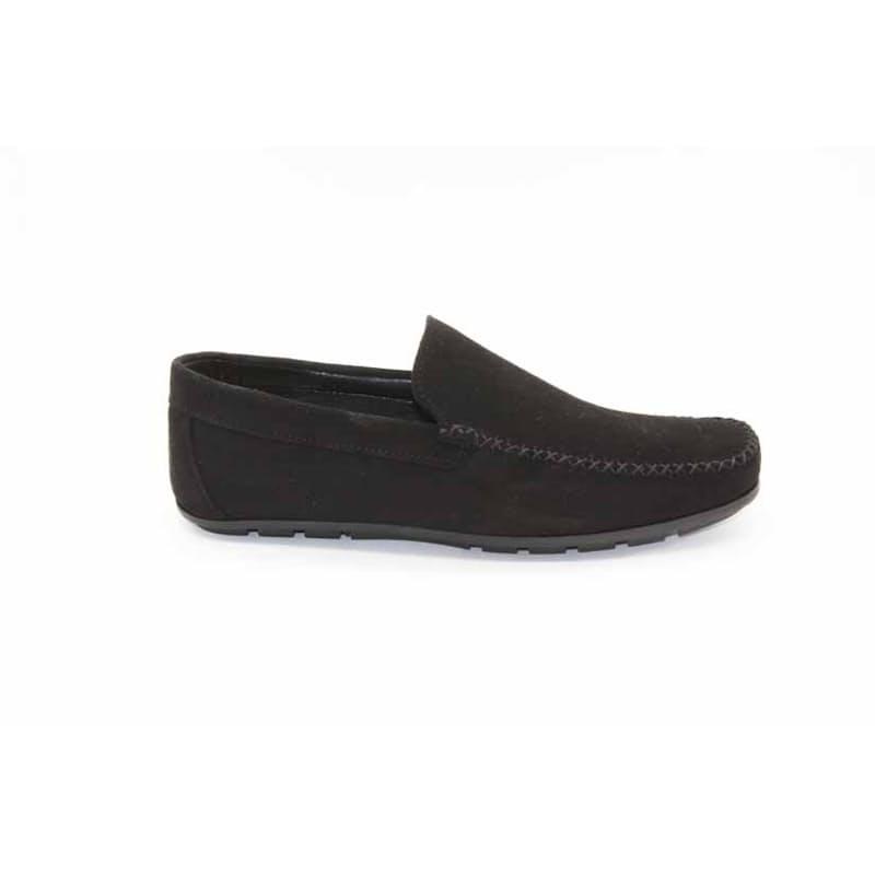 Men's Black Dutti Genuine Leather Slip-on