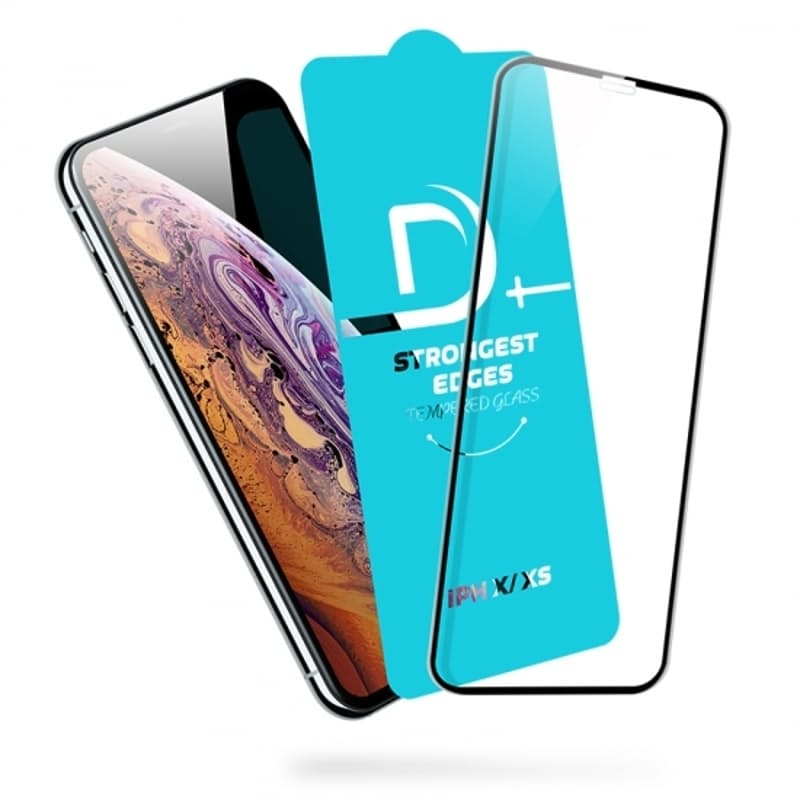 Pack of 3 D+ Full Screen Coverage Tempered Glass Protector (iPhone 6,7,8,X,XS,XS Max,XR,11,11 Pro,11 Pro Max)