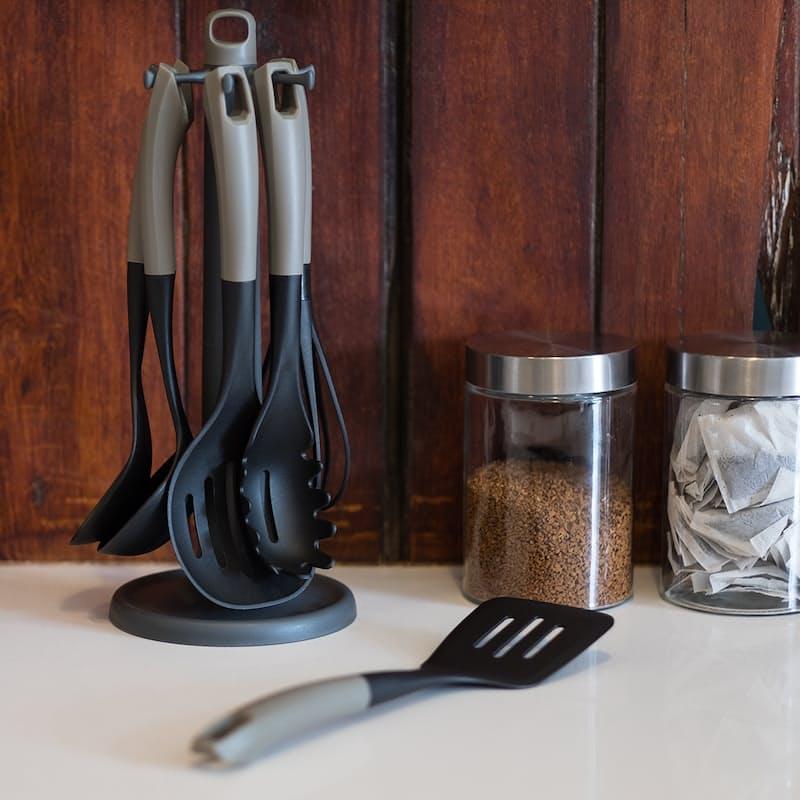 6-Piece Kitchen Utensils & Rotating Stand