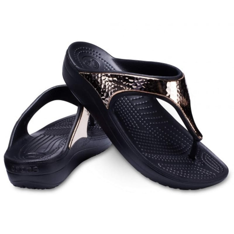 Ladies Sloane Hammered Met Flip Flop