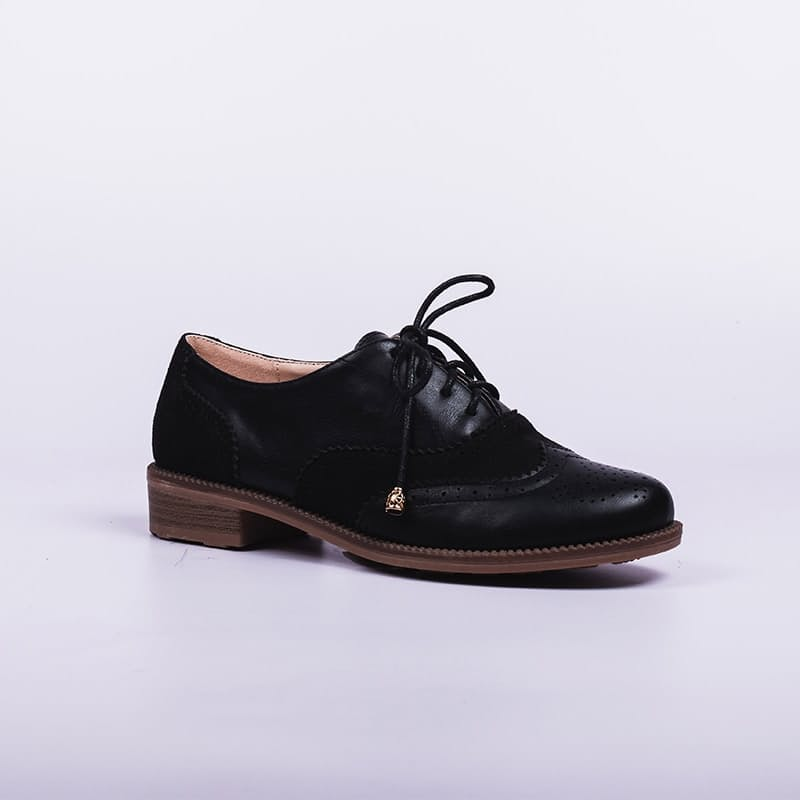 Ladies Black Boyfriend Shoe