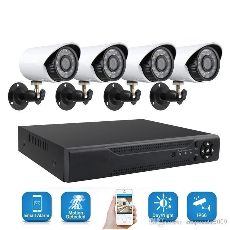 4 Channel Home Recording CCTV Security System